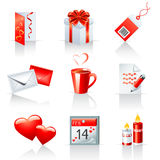 St. Valentine's Day icons. Set of 9 St. Valentine' s Day icons Stock Photography