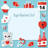 St. Valentine's Day Icons Set Stock Photos