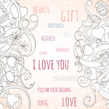 St Valentine s day invitation card Stock Images