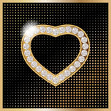 St.Valentine`s Day jelewery. Golden heart for St.Valentine`s Day Royalty Free Stock Photo