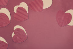 St. Valentine`s Day Paper Hearts Stock Image