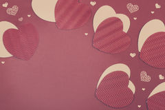 St. Valentine's Day Paper Hearts Royalty Free Stock Photo