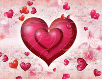 St. Valentine''s day postal Stock Image