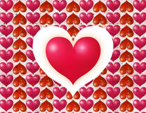 St. Valentine''s day postal Stock Photos
