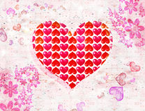 St. Valentine''s day postal Stock Images