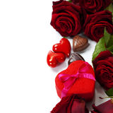 St. Valentine's Day roses and chocolate Stock Photo