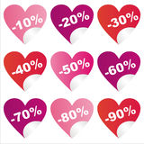 St. valentine's day sale stickers Stock Photo