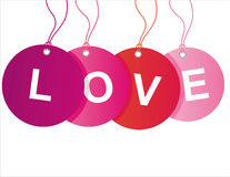St. valentine's day sale tags Royalty Free Stock Photography