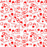 St. Valentine's day seamless pattern. Seamless pattern St. Valentine's day Royalty Free Stock Photography