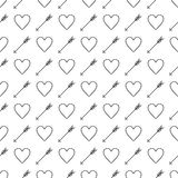 St. Valentine's Day seamless pattern Royalty Free Stock Image