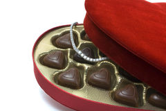 St. Valentine's day surprise. A nice St. Valentine's day surprise royalty free stock images