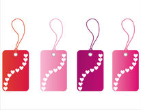 St. valentine's day tags Stock Images