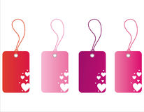 St. valentine's day tags Royalty Free Stock Image