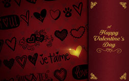 St Valentine`s Day theme background stock image