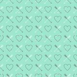 St. Valentine's Day vintage style background Royalty Free Stock Photos