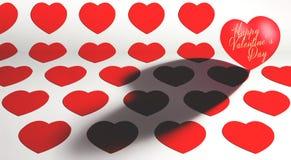 St Valentine ` s de achtergrond van het Dagthema Stock Foto