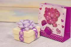 St. Valentine's gifts stock photos