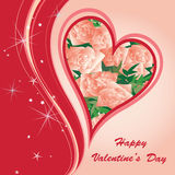 St.Valentine's Greeting Postcard Royalty Free Stock Images