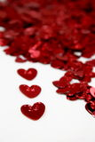 St-Valentine's hearts. St-Valentine hearts with metallic colors Stock Photo