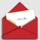 St Valentine's letter. A st valentine's letter and envelope on gray background useful as greeting-card. EPS file available Stock Images