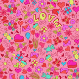 St valentine's seamless pattern. EPS 8 RGB global color illustration Royalty Free Stock Images