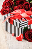 St Valentine's setting with roses Royalty Free Stock Photo