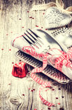 St Valentine's table setting Stock Images