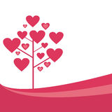 St. valentine's tree background Royalty Free Stock Image