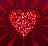 St.Valentine Tageshintergrund Lizenzfreies Stockfoto