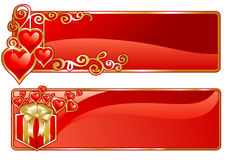 St.Valentines banner Royalty Free Stock Photography