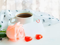 St Valentines day background in warm pastel tones Royalty Free Stock Image