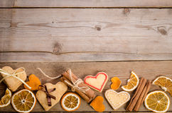 St. Valentines Day decoration and empty space for text Royalty Free Stock Images