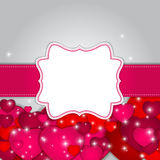 St Valentines  Day Greeting Card Vector Stock Image