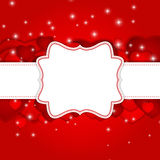 St Valentines  Day Greeting Card Vector Royalty Free Stock Image