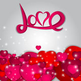 St Valentines  Day Greeting Card Vector Stock Images