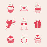 St. Valentines Day icons Royalty Free Stock Photo