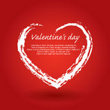 St. Valentines day illustration. With hearts and cross Royalty Free Stock Photo