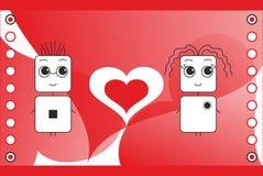 St. Valentines day illustration Stock Images