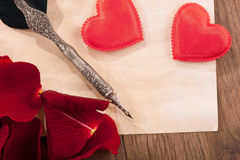 St. Valentines Day love message Royalty Free Stock Photos