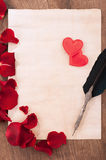 St. Valentines Day love message Stock Photo