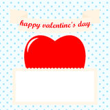 St valentines day postcard Stock Images