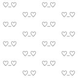 St. Valentines Day seamless pattern with 'In love' emoticon Stock Images