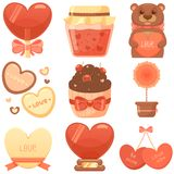 St. Valentines Day Set Royalty Free Stock Image