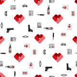 St. Valentines Day Symbols mens Accessories Royalty Free Stock Photos