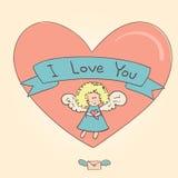 St valentines dnia karta Obrazy Stock