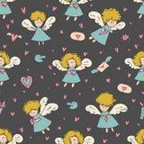 St valentines dnia wzór Zdjęcie Stock
