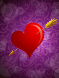 St Valentines greeting card Stock Photography