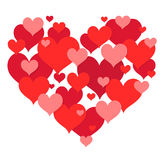 St Valentines heart shape design Royalty Free Stock Photos