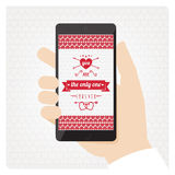 St Valentines love message Royalty Free Stock Image