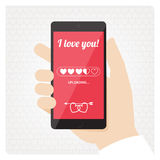 St Valentines love message Royalty Free Stock Photo